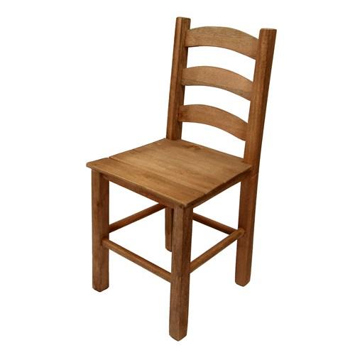 Cadeira de Madeira Cm Cera Com Encosto Quadrado -  Veneri  (VCTT-CE)