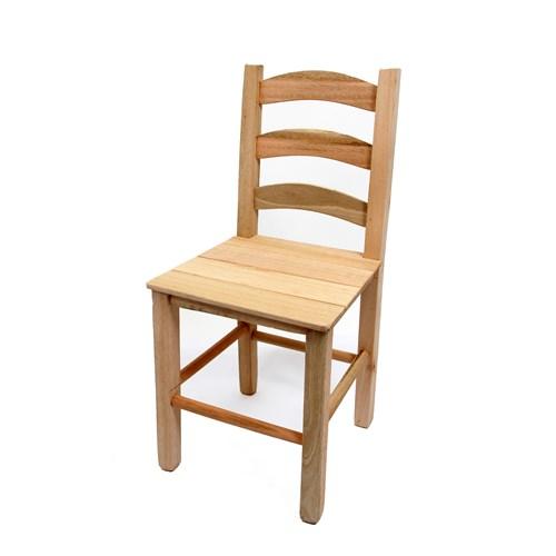 Cadeira de Madeira Crua Com Encosto Quadrado (VCTT-CR)