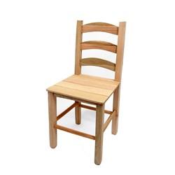 Cadeira de Madeira Crua Com Encosto Quadrado -  Veneri  (VCTT-CR)