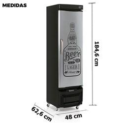 Cervejeira Gelopar 230 Litros Cinza Beer Porta Cega  (GRB-23 E GW)