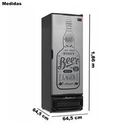 Cervejeira Gelopar 410 Litros Cinza Beer Porta Cega (GRBA-400 GW)