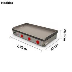 Chapa Bifeteira A Gás 1 Metro 3 Queimadores Progas -  PR-1000G