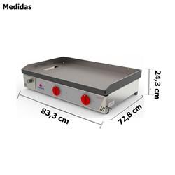Chapa Bifeteira A Gás 80Cm 2 Queimadores Progas -  PR-800G
