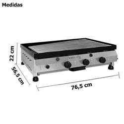Churrasqueira Char Broiler A Gas 80cm - Metvisa - CBG08