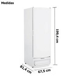 Conservador Refrigerador dupla ação Porta cega Branca com Prateleiras  570 Litros Gelopar    -   GTPC-575