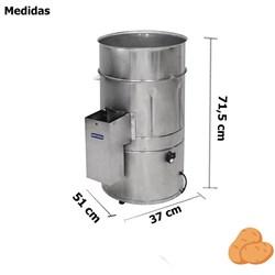 Descascador  De Batata 6kg Profissional - Db6 - Metvisa