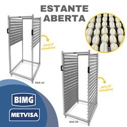 Estante Aberta Pintada 20 Prateleiras - Eap2058x70- Metvisa