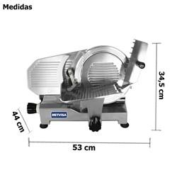 Fatiador  De  Frios Inclinado 250mm Manual Profissional - Cfe250 - Metvisa
