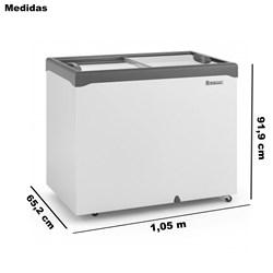 Freezer Horizontal Litros Dupla Ação Gelopar Tampa de Vidro  310 Litros Gelopar    -   GHDE-310