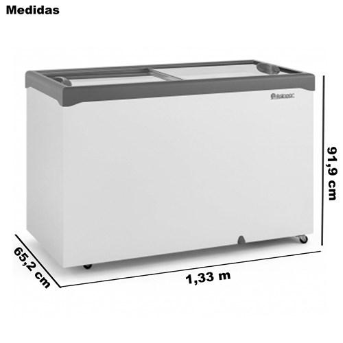 Freezer Horizontal Litros Dupla Ação Gelopar Tampa de Vidro  410 Litros Gelopar    -   GHDE-410