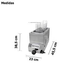 Fritadeira Industrial a Gás  3 Litros  1 Cubas Inox Metvisa  - FG3S