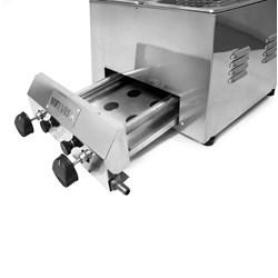 Fritadeira Industrial a Gás  3 Litros  2 Cubas Inox Metvisa - FG3D