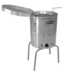 Fritadeira Industrial Agua E Oleo Eletrica 20 Litros 8000W  - Metvisa - FIE20M 220 Volts