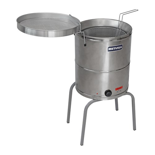 Fritadeira   Industrial Agua E Oleo  Eletrica 20litros - Fie20 -  Metvisa
