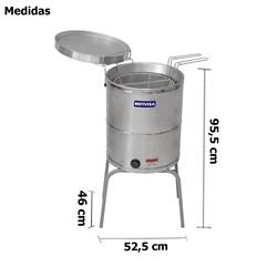 Fritadeira Industrial Eletrica 20l 8000w Bi-Partido - METVISA - FIE20MBIP