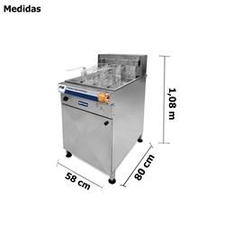 Fritadeira Industrial Eletrica 44 Litros - Fie44 - Metvisa
