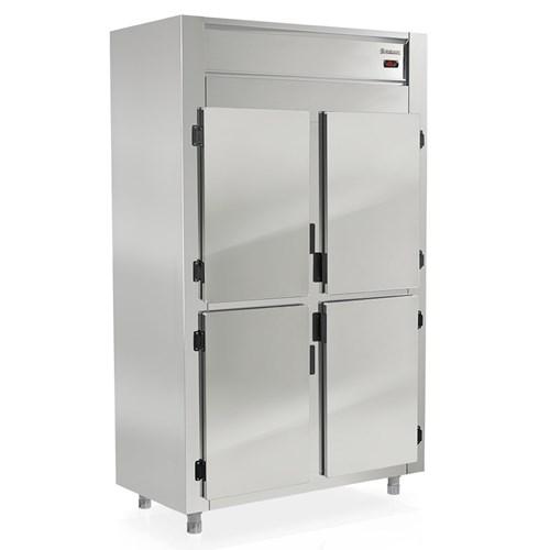 Geladeira Industrial 4 Portas Gelopar Revestimento em Aço Inox  (GREP-4 P)