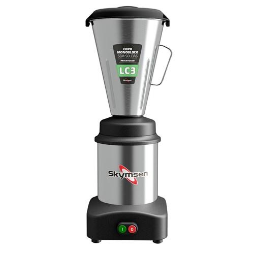 Liquidificador Industrial 3 Litros Skymsen  0,5CV Monobloco em Inox - LC3