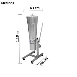 Liquidificador Industrial Basculante 19 Litros Inox - Metvisa - Lq19