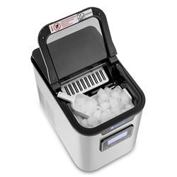 Máquina de Gelo Portatil Gelopar em Aço Inox Display Digital 12 Kgs de Gelo por Dia  (GMGD-15AI)