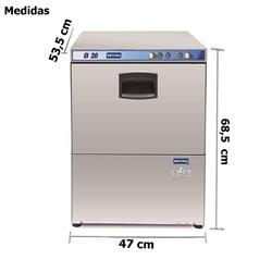 Maquina De Lavar Copos Industrial - Ciclo Rapido - B20  - Metvisa