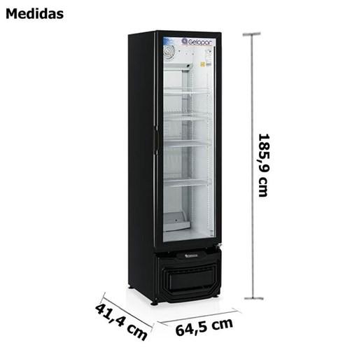 Refrigerador Vertical Gelopar 414 Litros Porta de Vidro Expositor Preto  (GPTU-40 PR)