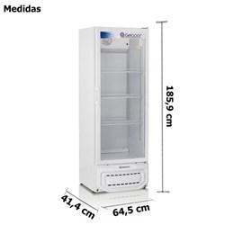 Refrigerador VerticaLitros Porta de Vidro Branca  414 Litros Gelopar    -   GPTU-40 BR