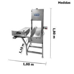 Serra Fita 3,15m Frigorífico 2CV Inox - Metvisa - SFEIFRIG